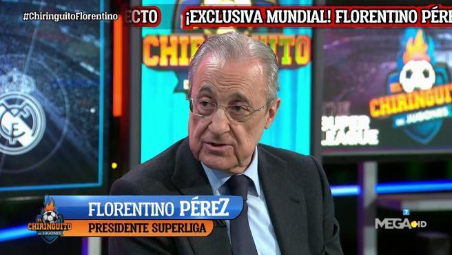 Florentino Pérez, en 'El Chiringuito de Jugones'