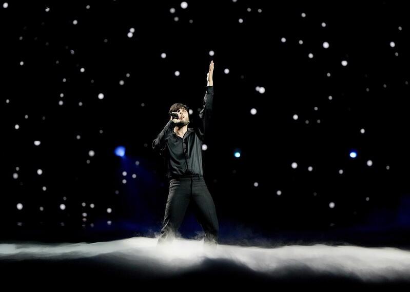 Blas Cantó durante los ensayos en Eurovisión 2021