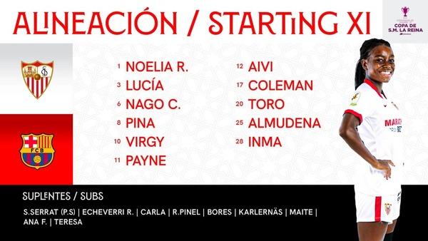 Y el once del Sevilla en el twitter del club