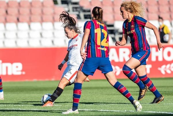 El gol de Claudia Pina tras irse de Kheira FOTO: SEVILLA FC