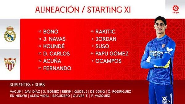 El once del Sevilla