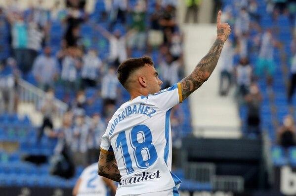 Ibáñez celebra el 1-0.