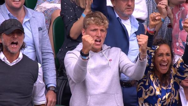 La famiglia Berrettini a Wimbledon