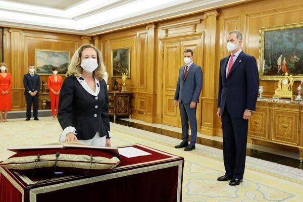 Nadia Calviño takes office