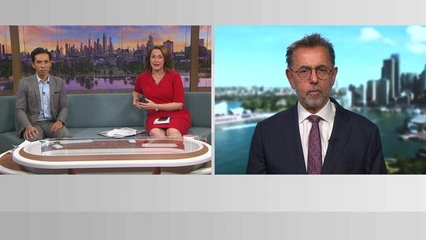 A screenshot of Dr Norman Swan on News Breakfast